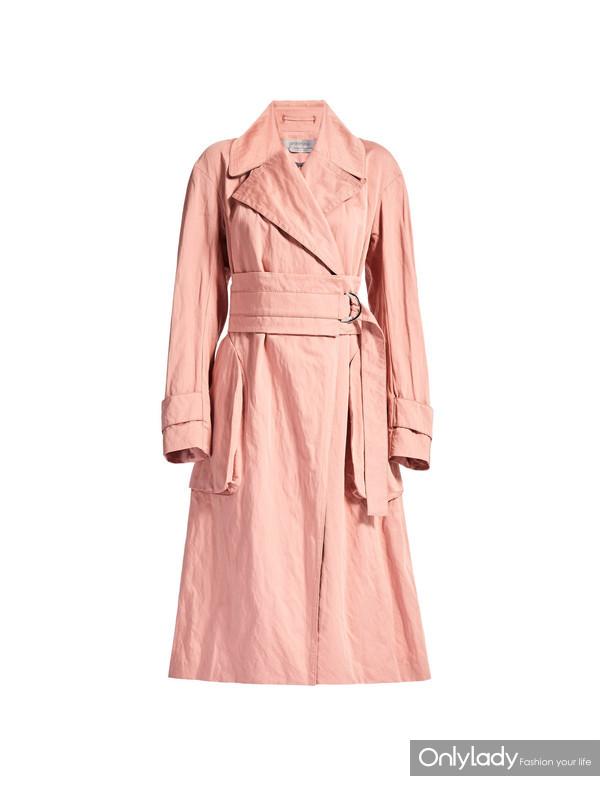 SPORTMAX粉色风衣